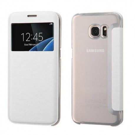 Estuche Tipo flip Samsung Galaxy S7 EDGE. Color Blanco
